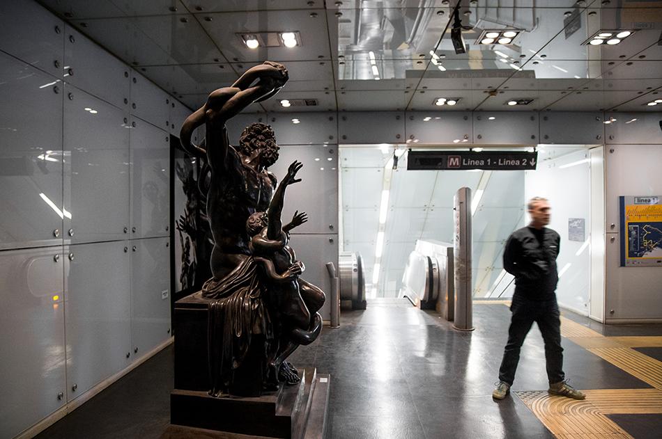 Neapel, Napoli, Metro Station, Museo