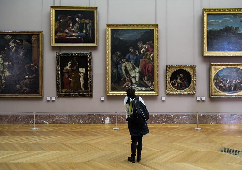 Fabian Fröhlich, Louvre, Pietà avec saint François et sainte Marie-Madeleine , Annibale Carracci