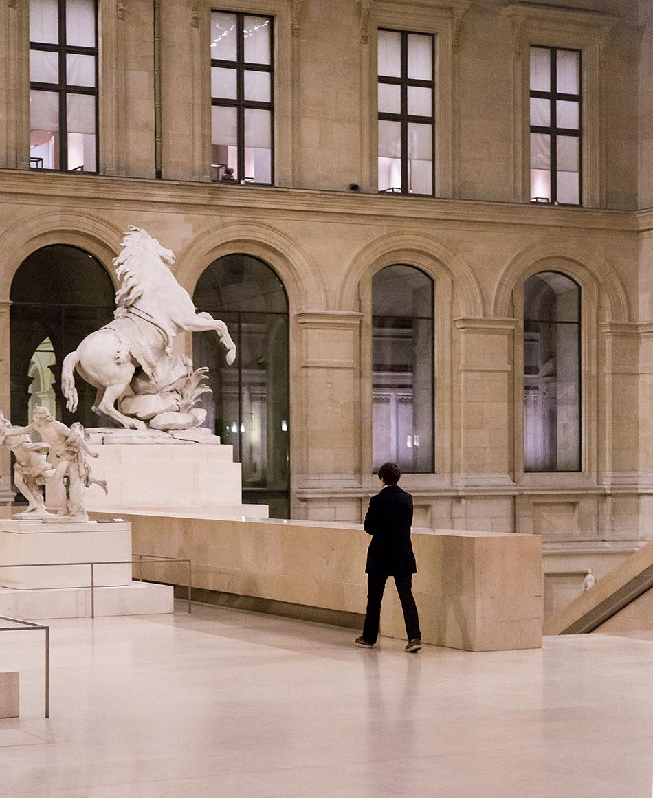 Fabian Fröhlich, Louvre, Cour Marly