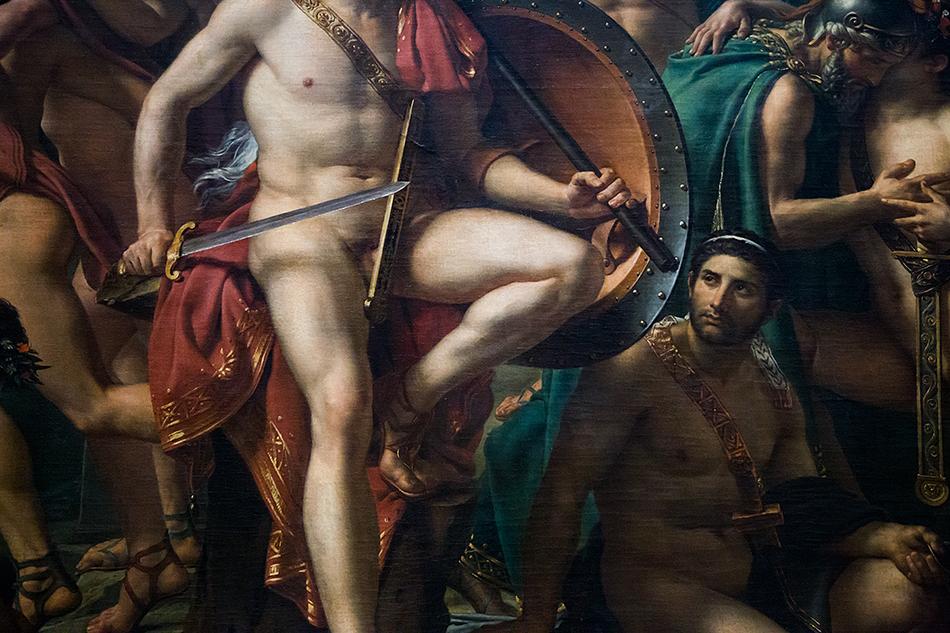 Fabian Fröhlich, Louvre, Léonidas aux Thermopyles,  Jacques-Louis Davis