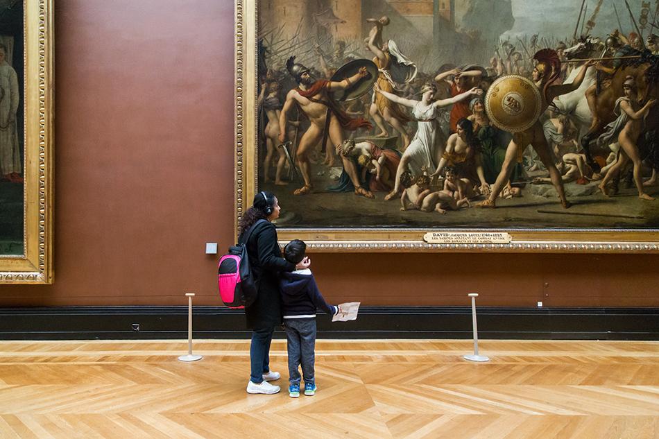 Fabian Fröhlich, Louvre, Jacques-Louis David, The Sabines