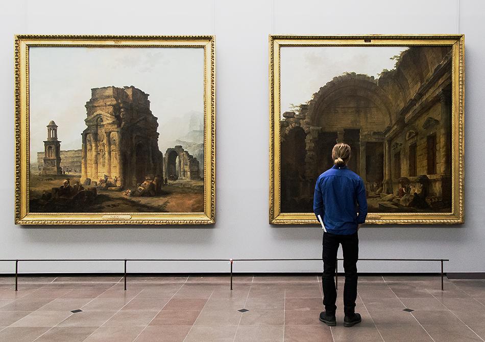 Fabian Fröhlich, Louvre, Hubert Robert, Principaux monuments de la France