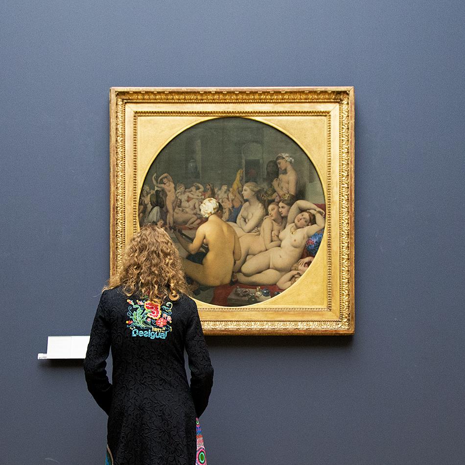 Louvre, Jean-Auguste-Dominique Ingres, La bain turc