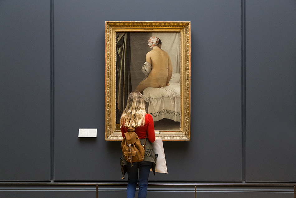 Fabian Fröhlich, Louvre,Jean-Auguste-Dominique Ingres, La Baigneuse