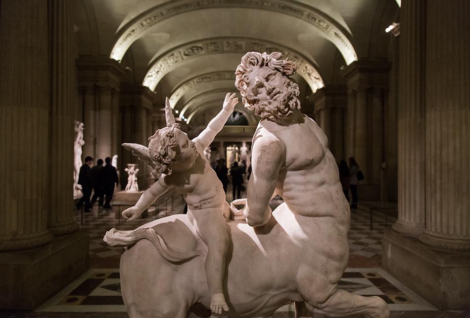 Fabian Fröhlich, Louvre, Old Centaur Ridden by Eros