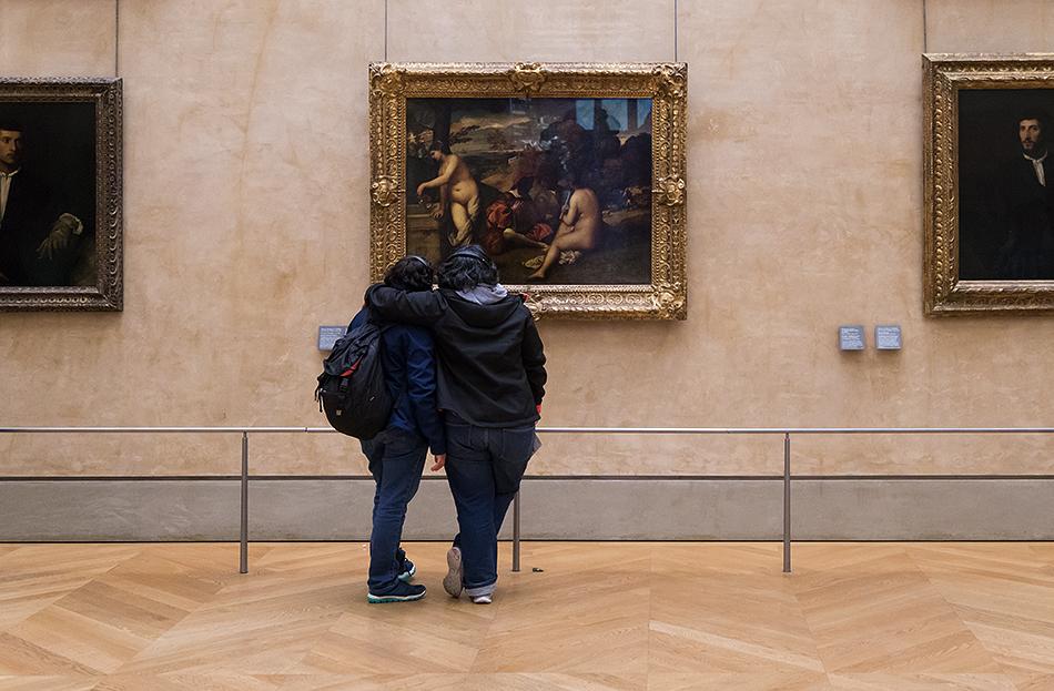 Fabian Fröhlich, Louvre, Tiziano, Le Concert champêtre