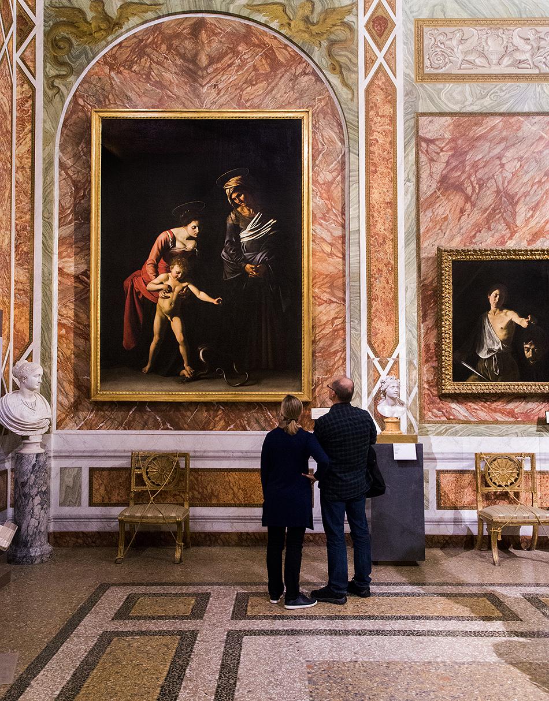 Rom, Galleria Borghese, Caravaggio, La Madonna dei palafrenieri