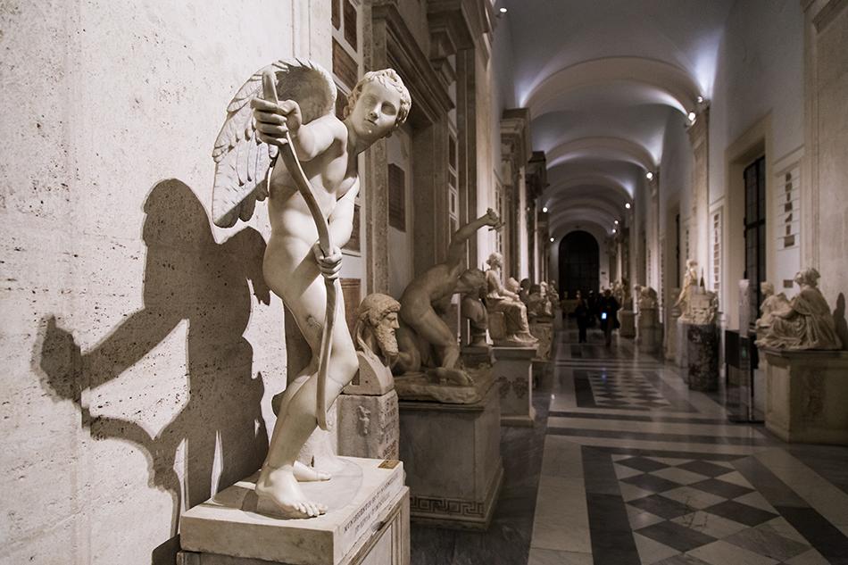 Rom, Kapitolinische Museen, Eros, den Bogen spannend