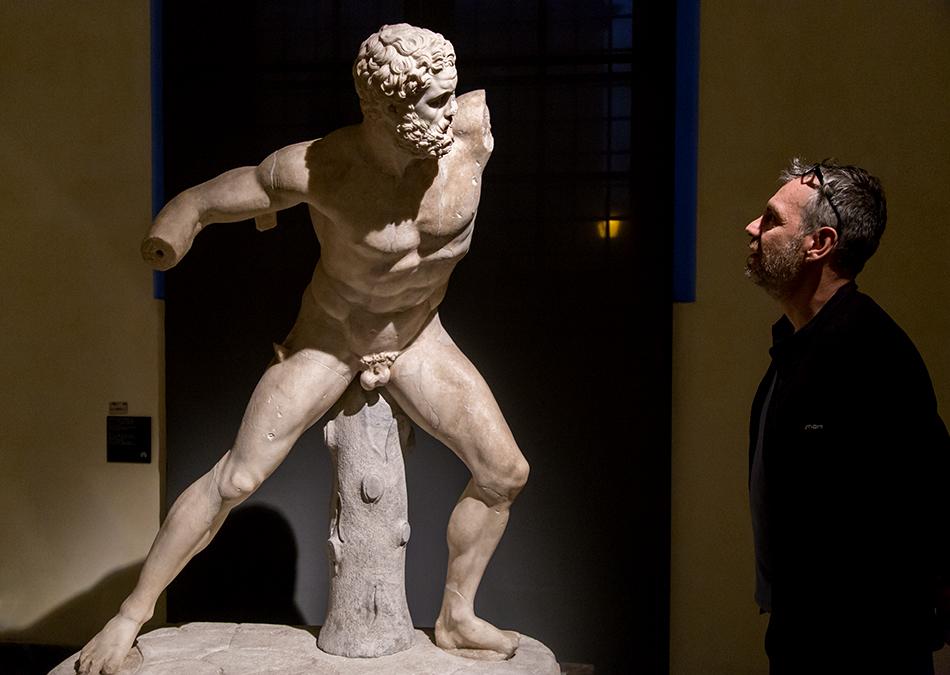 Rom, Kapitolinische Museen, Statue des kämpfenden Herakles