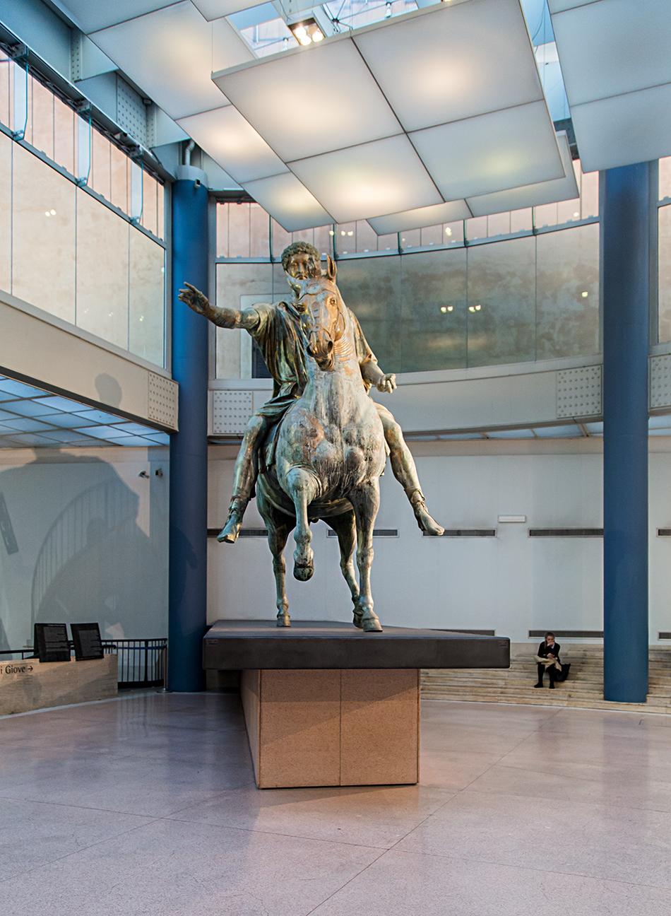 Rom, Kapitolinische Museen, Reiterstandbild des Mark Aurel