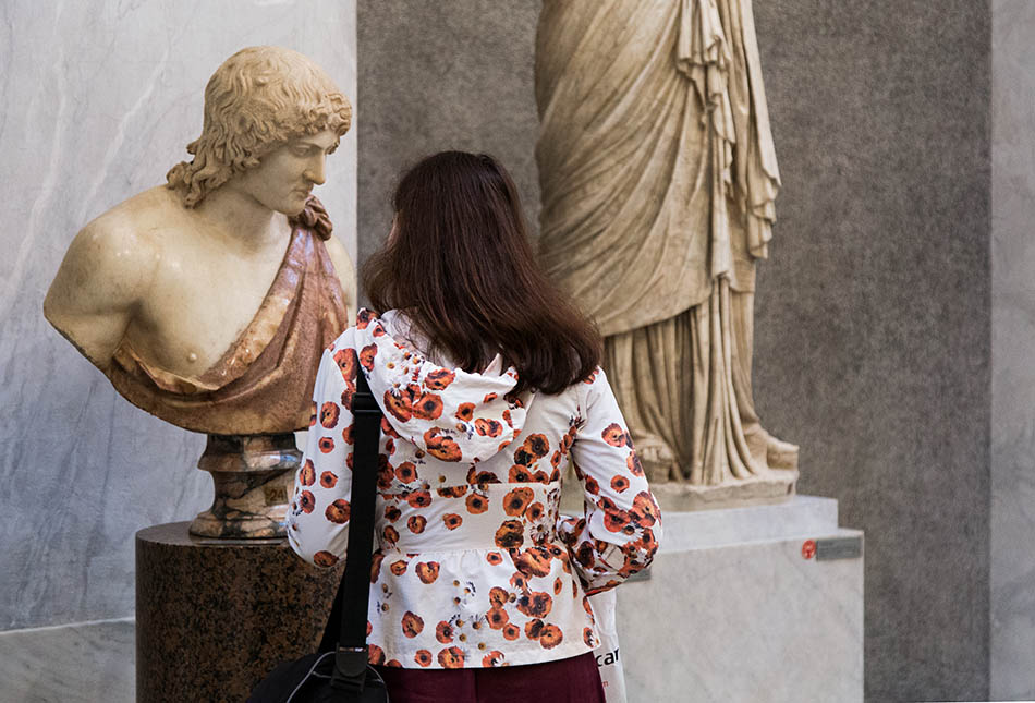 Rom, Vatikanische Museen, Neuer Flügel, Kopf eines jungen Mannes