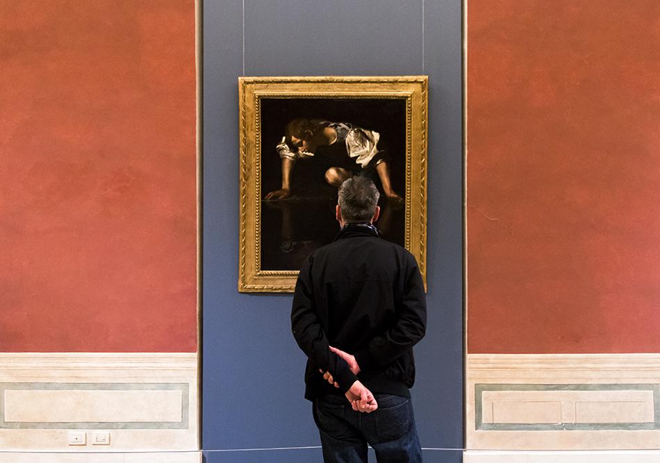 Rom, Palazzo Barberini, Caravaggio, Narziss