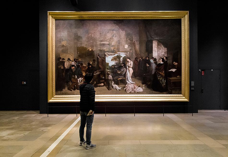 Paris, Musée d'Orsay, Gustave Courbet, Das Atelier des Malers