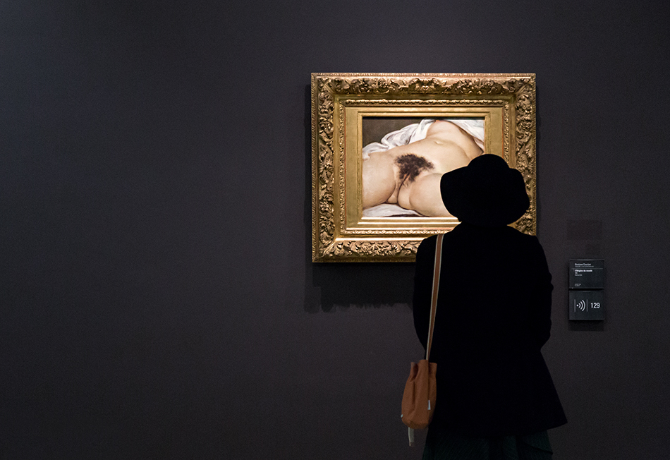 Paris, Musée d'Orsay, Gustave Courbet,, Der Ursprung der Welt