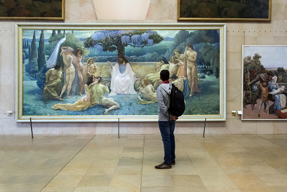 Paris, Musée d'Orsay, Jean Delville, Die Schule Platons