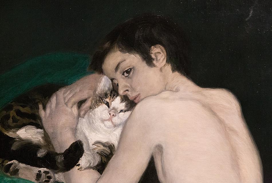 Paris, Musée d'Orsay, Auguste Renoir,, Junge mit Katze