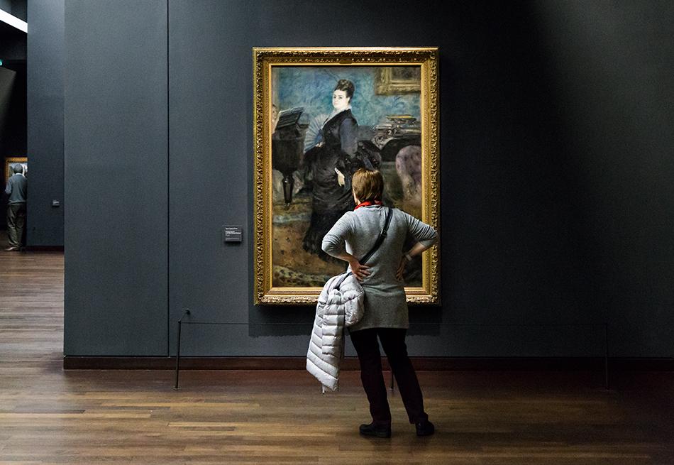 Paris, Musée d'Orsay, Auguste Renoir, Madame Georges Hartmann