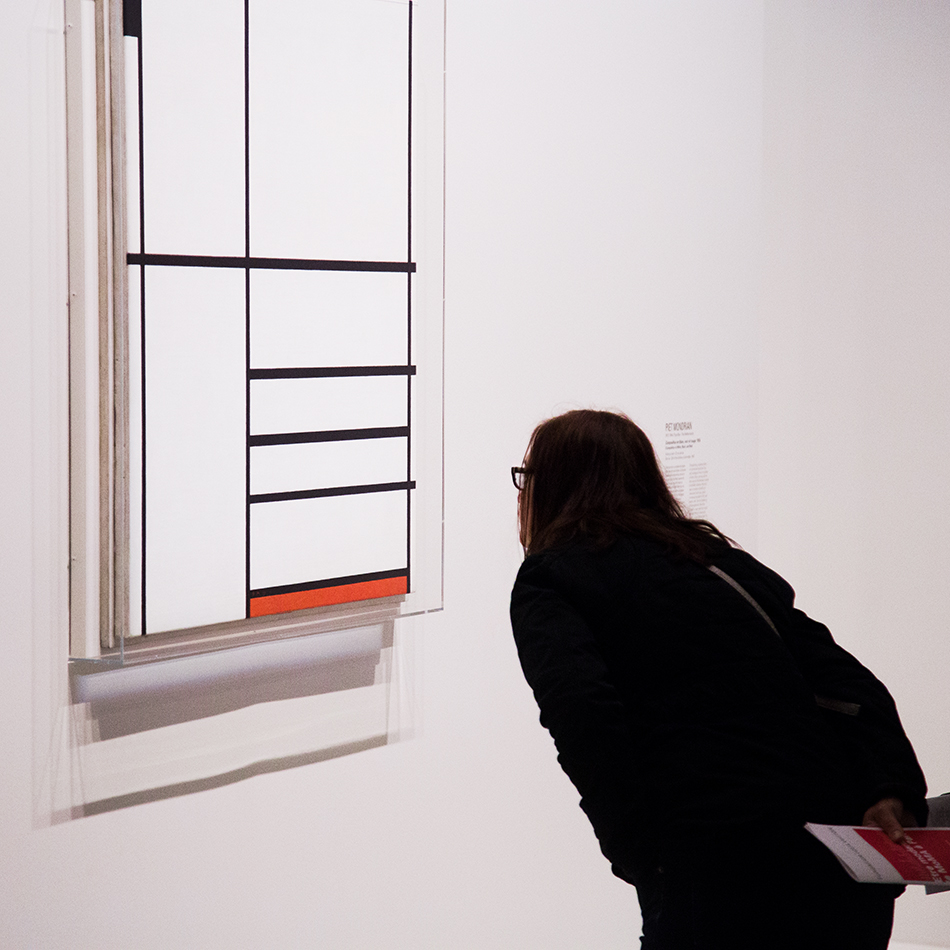 Paris, Fondation Louis Vuitton, MOMA, Piet Mondrian, Composition in White, Black, and Red
