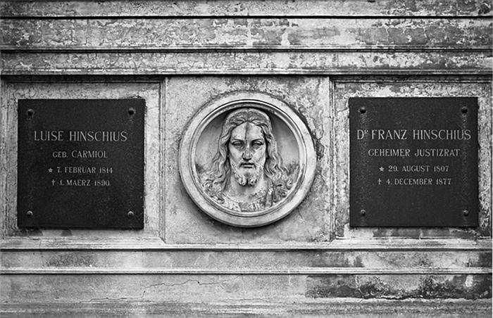 Fabian Fröhlich, Alter St.-Matthäus-Kirchhof, Berlin, Grabstätte Hinschius, Christus