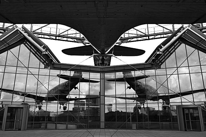 Berlin, Deutsches Technikmuseum, Terrasse mit Douglas C-47