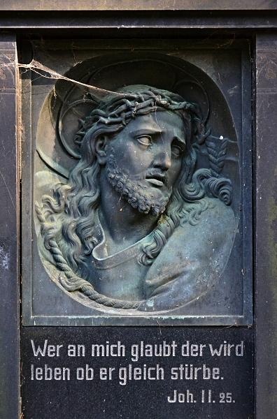 Fabian Fröhlich, Kassel, Hauptfriedhof, Christusrelief