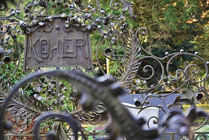 Fabian Fröhlich, Kassel, Hauptfriedhof, Grabstelle Koehler