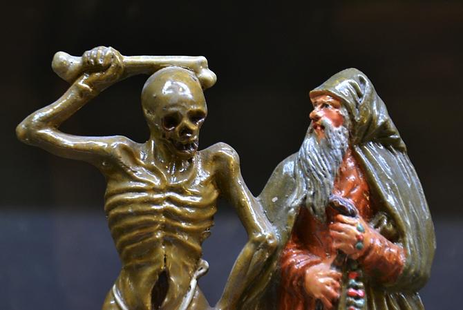 Fabian Fröhlich, Kassel, Museum für Sepulkralkultur, Anton Sohn, Zizenhausener Totentanz, Tod und Pilger