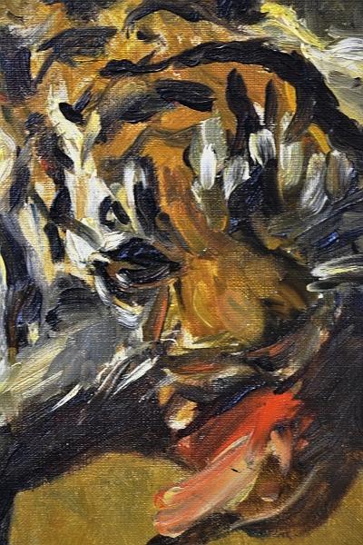Fabian Fröhlich, Kassel, Neue Galerie, Fressender Tiger im Frankfirter Zoo
