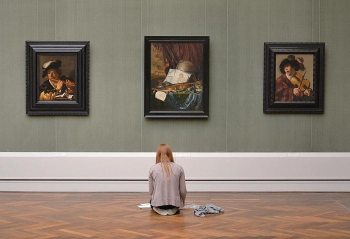 Fabian Fröhlich, Berlin, Gemäldegalerie, Dirk van Baburen, Der Flötenspieler; Piter de Ring, Stilleben mit Musikinstrumenten; Hendrick ter Brugghen, Sänger mit Saiteninstrument