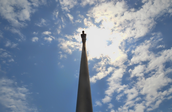 Fabian Fröhlich, Kassel, Jonathan Borofsky, Man Walking to the Sky, documenta 9