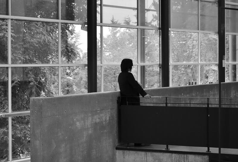 Yan Lei vor seinem Raum in der documenta-Halle, documenta 13, Kassel, Fabian Fröhlic