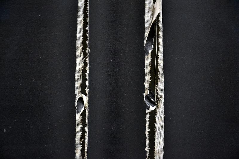 München, Pinakothek der Moderne, Lucio Fontana, Conzetto Spaziale 58/59