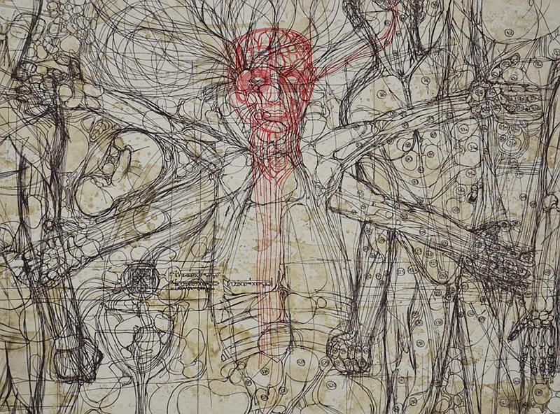 München, Pinakothek der Moderne, Hermann Nitsch, Das letzte Abendmahl