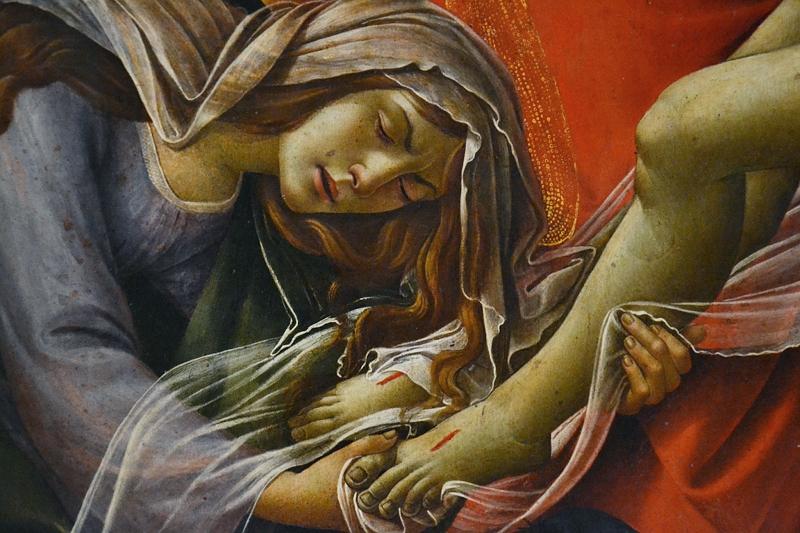 München, Alte Pinakothek, Sandro Botticelli, Beweinung Christi