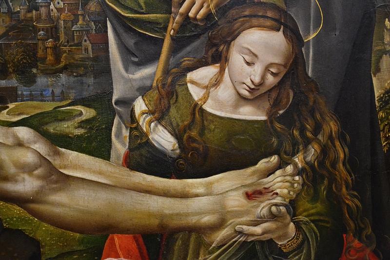 München, Alte Pinakothek, Raffelino del Garbo, Beweinung Christi