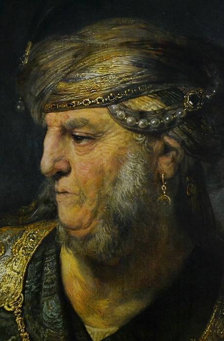 München, Alte Pinakothek, Rembrandt van Rijn, Brustbild eines Mannes im orientalischen Kostüm