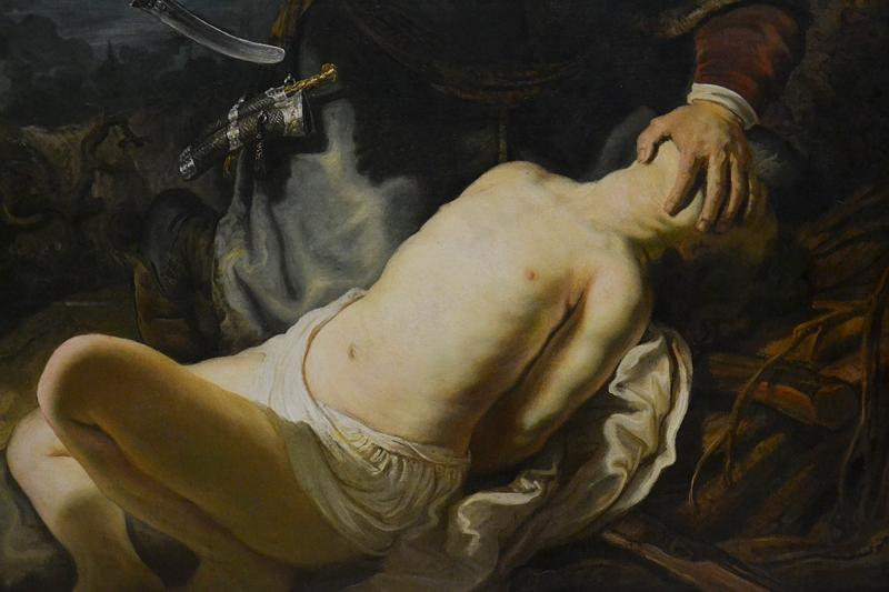 München, Alte Pinakothek, Rembrandt van Rijn, Opferung Isaaks