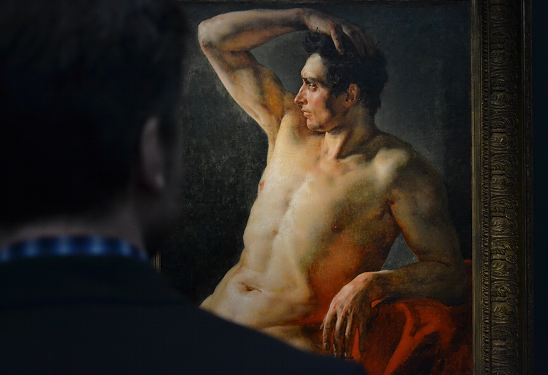 London, Frieze Masters, Theodore Gericault, Torse d'homme, Fabian Fröhlich