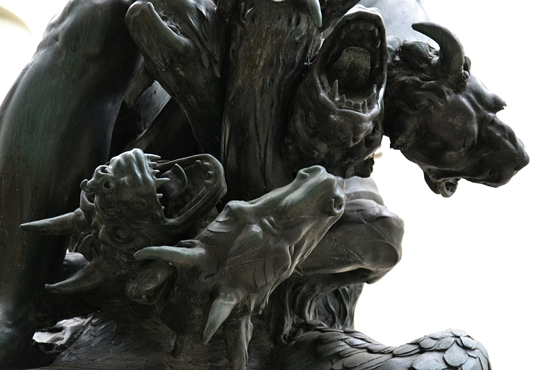 Augsburg, Maximilianmuseum, Hydra vom Herkulesbrunnen, Fabian Fröhlich