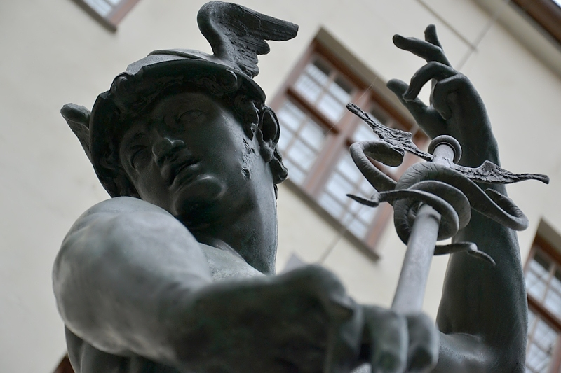 Augsburg, Maximilianmuseum, Merkurbrunnen, Fabian Fröhlich