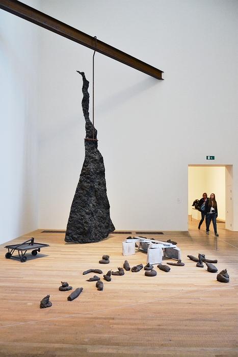 Tate Modern, Joesph Beuys, Blitzschlag mit Lichtschein auf Hirsch