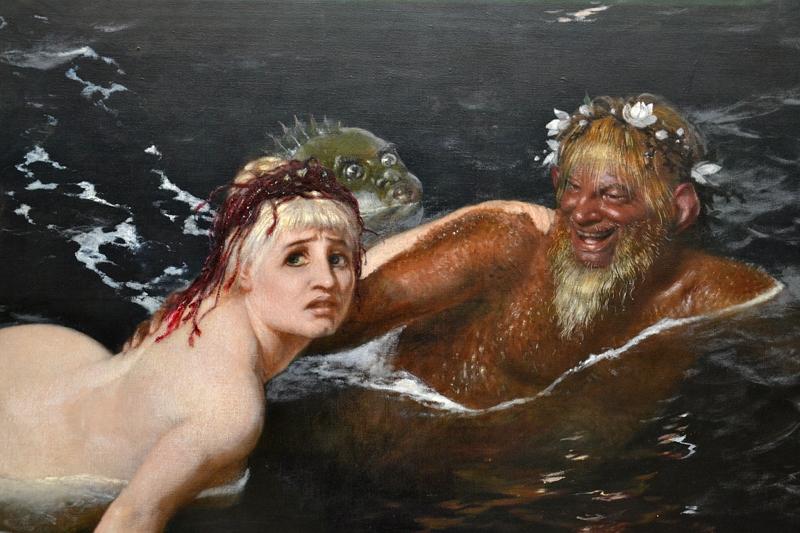 Neue Pinakothek, München, Arnold Böcklin, Im Spiel der Wellen, Fabian Fröhlich