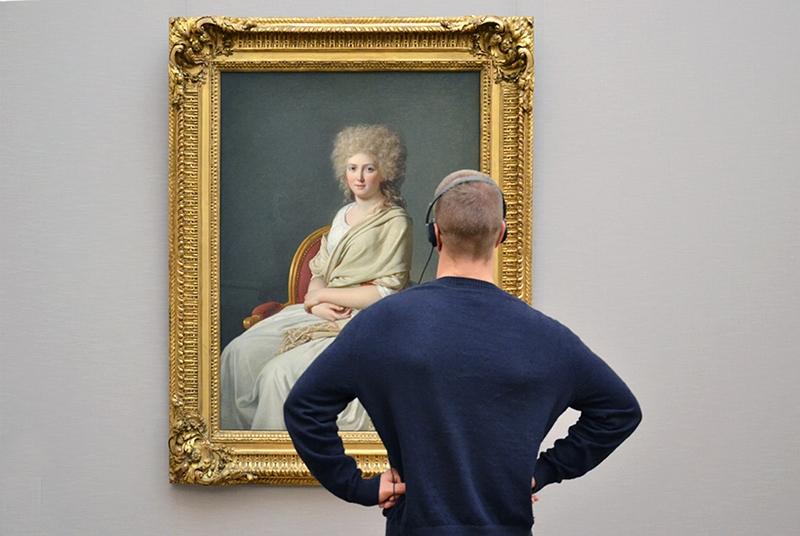 Neue Pinakothek, Besucher, München, Jacques-Louis David, Anne-Marie-Louise Thelusson, Fabian Fröhlich