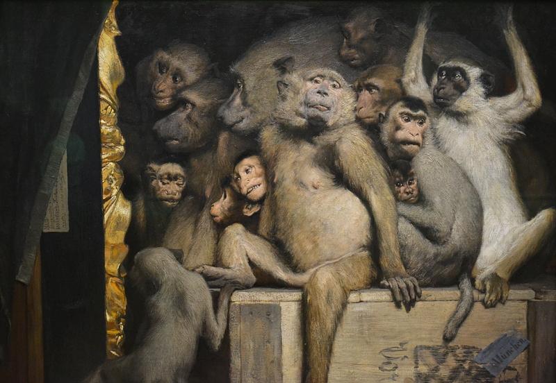 Neue Pinakothek, München, Gabriel von Max, Die Affen als Kunstrichter, Fabian Fröhlich