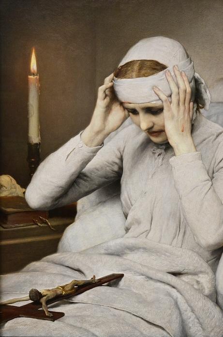 Neue Pinakothek, Gabriel von Max, Die ekstatische Jungfrau Katharina Emmerich