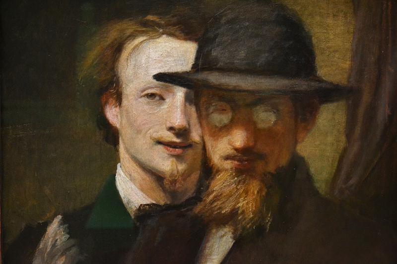 Neue Pinakothek, München, Hans von Marées, Doppelbildnis Marées und Lenbach, Fabian Fröhlich