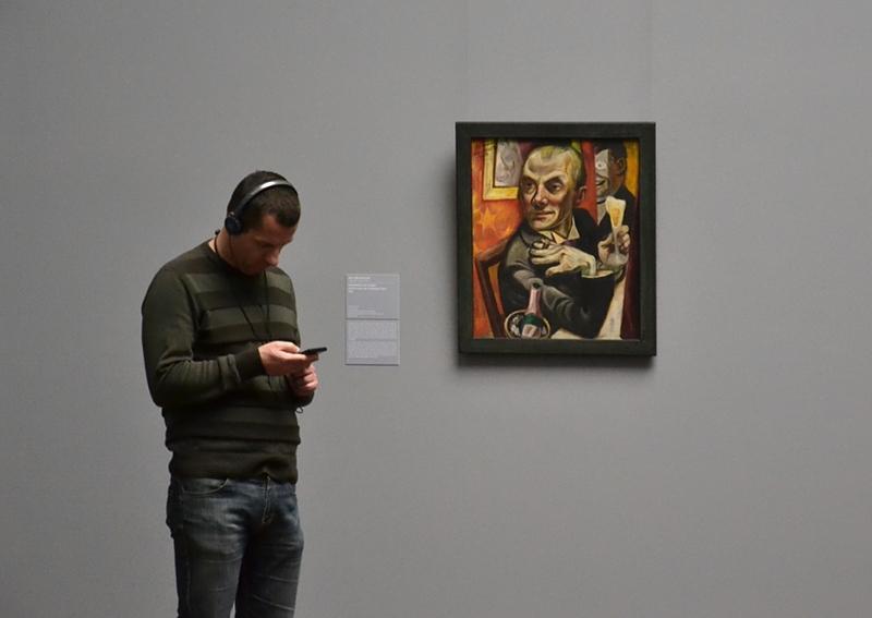Städel Museum, Audio Guide, Max Beckmann, Selbstbildnis mit Sektglas, Fabian Fröhlich
