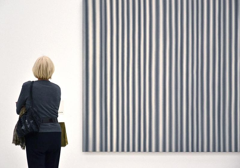 Städel Museum, Besucherin, Gerhard Richter, Großer Vorhang, Fabian Fröhlich