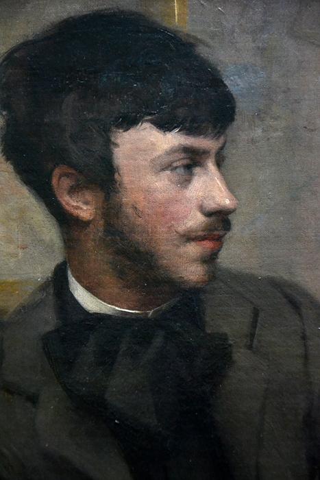 Städel Museum, Ottilie W. Roederstein, Bildnis eines Malers in einem Pariser Atelier, Fabian Fröhlich