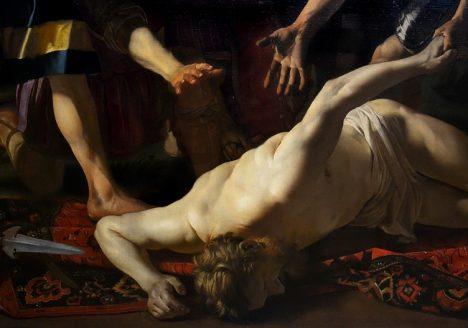Kassel, Gemäldegalerie Alte Meister, Schloss Wilhelmshöhe, Dirck van Baburen, Achill vor der Leiche des Patroklos